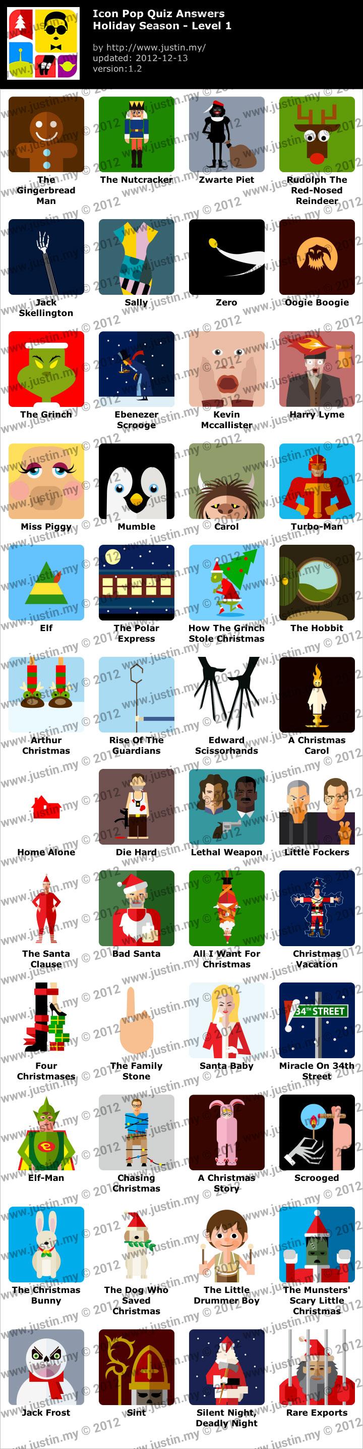 Icon Pop Quiz Holiday Season Level 01