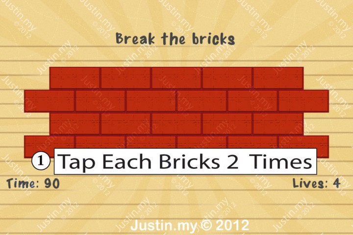 Impssible Test 2 - Break the bricks