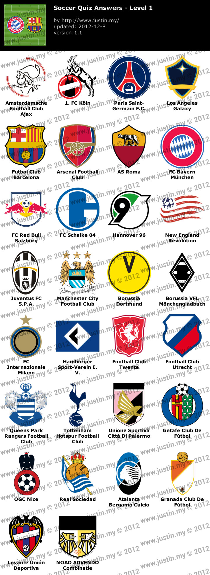 Soccer Quiz Level 1