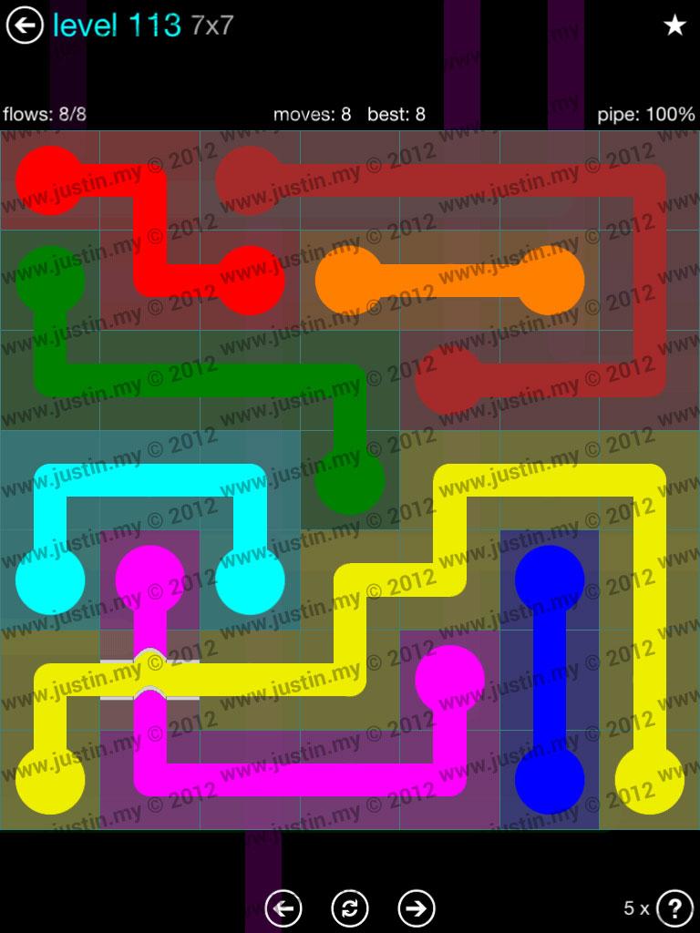 Flow Bridges 7x7 Mania  Level 113