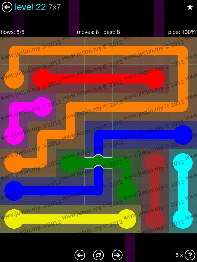 Flow Bridges 7x7 Mania  Level 22