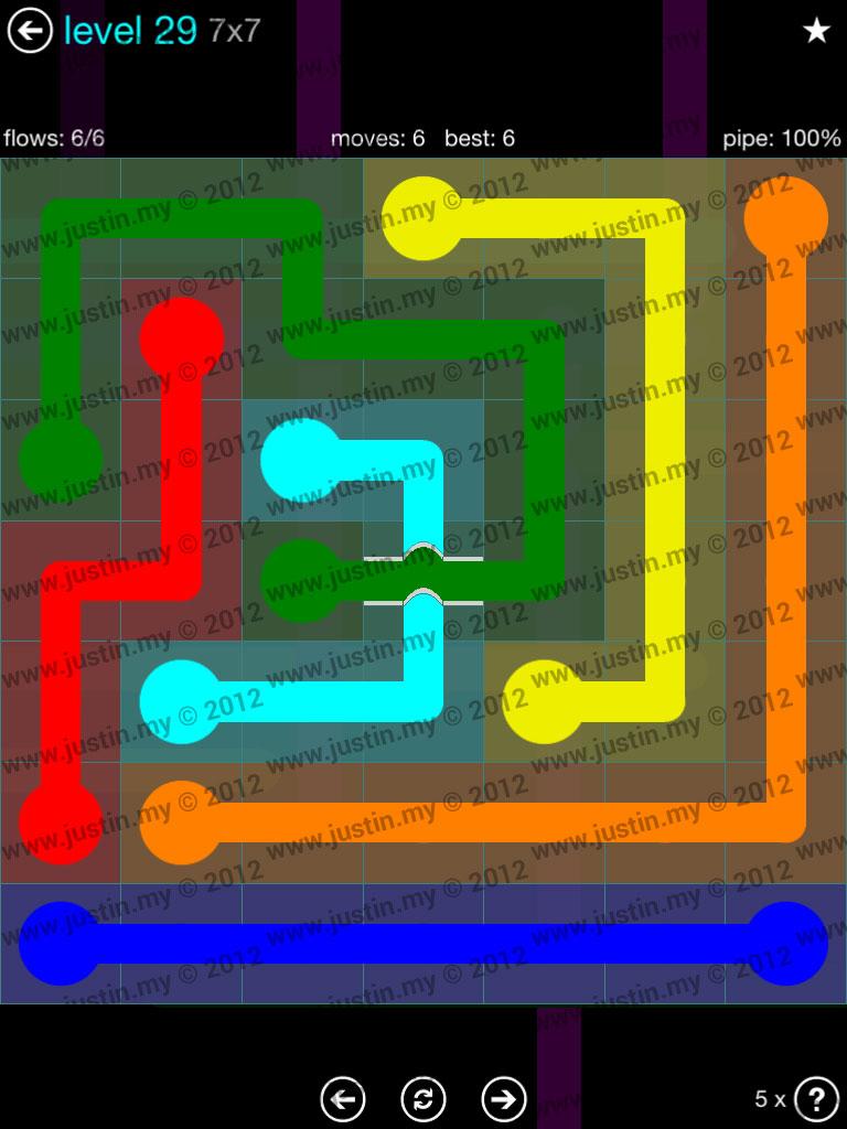 Flow Bridges 7x7 Mania  Level 29