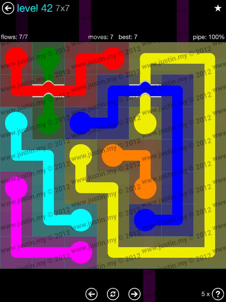 Flow Bridges 7x7 Mania  Level 42