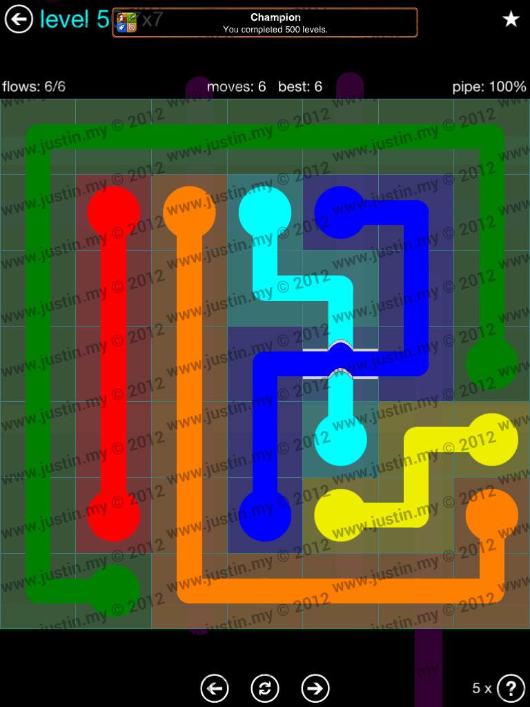 Flow Bridges 7x7 Mania  Level 50