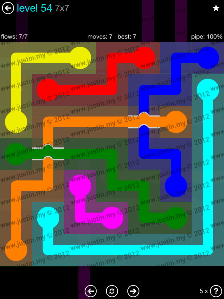 Flow Bridges 7x7 Mania  Level 54