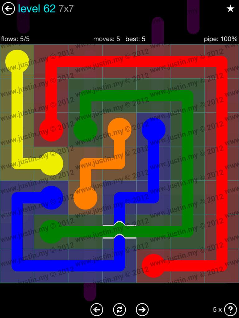 Flow Bridges 7x7 Mania  Level 62