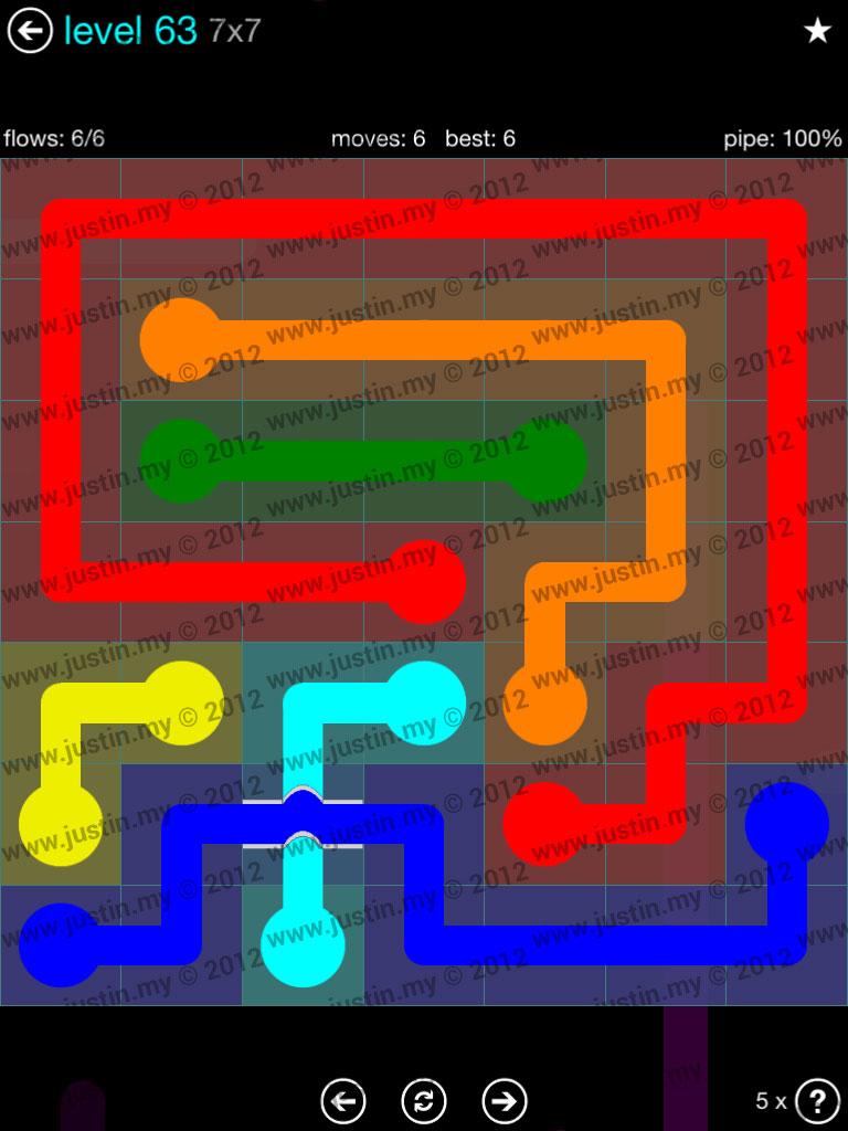 Flow Bridges 7x7 Mania  Level 63