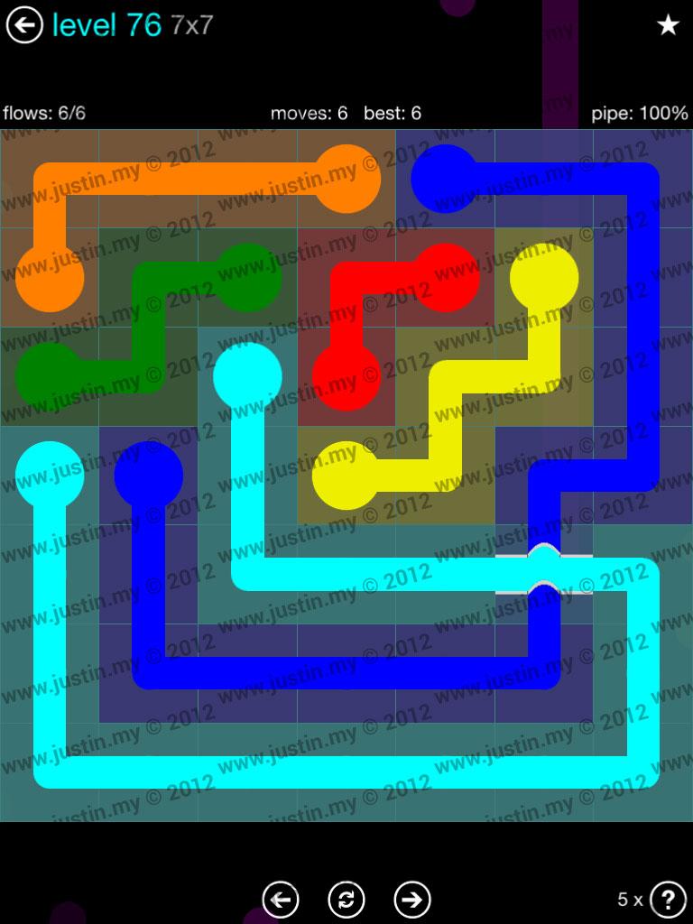 Flow Bridges 7x7 Mania  Level 76