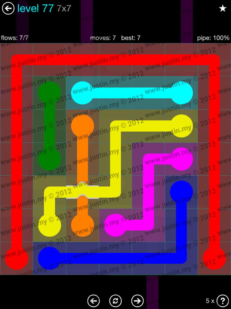 Flow Bridges 7x7 Mania  Level 77