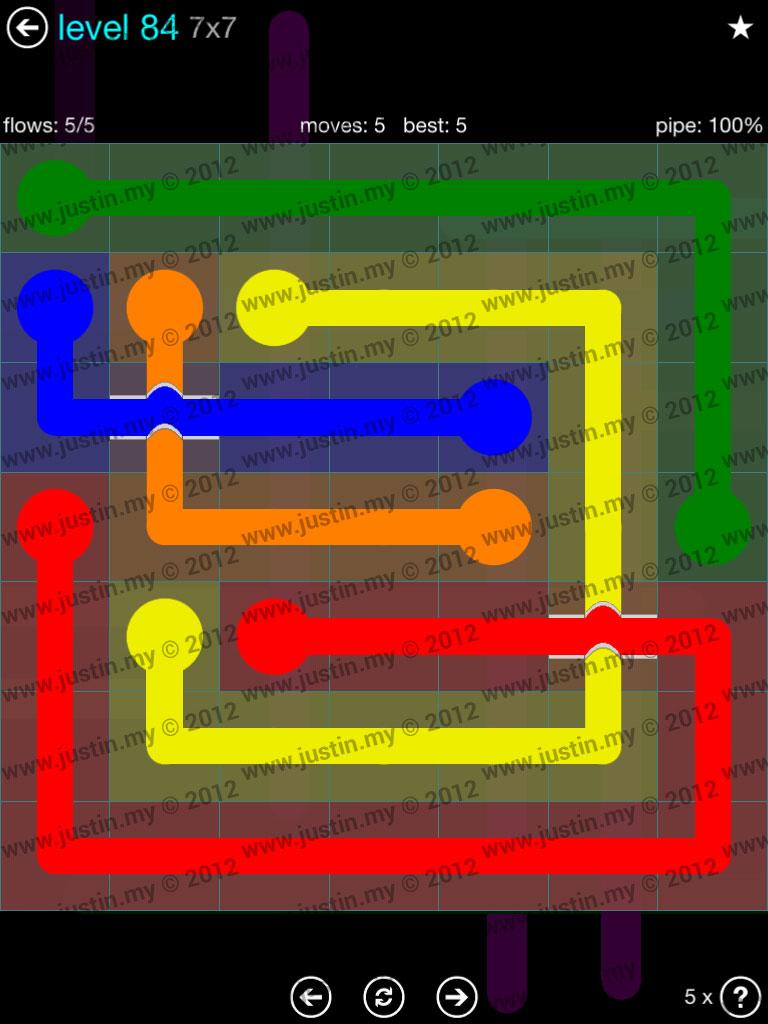 Flow Bridges 7x7 Mania  Level 84