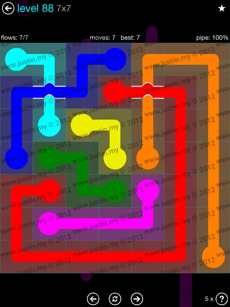 Flow Bridges 7x7 Mania  Level 88