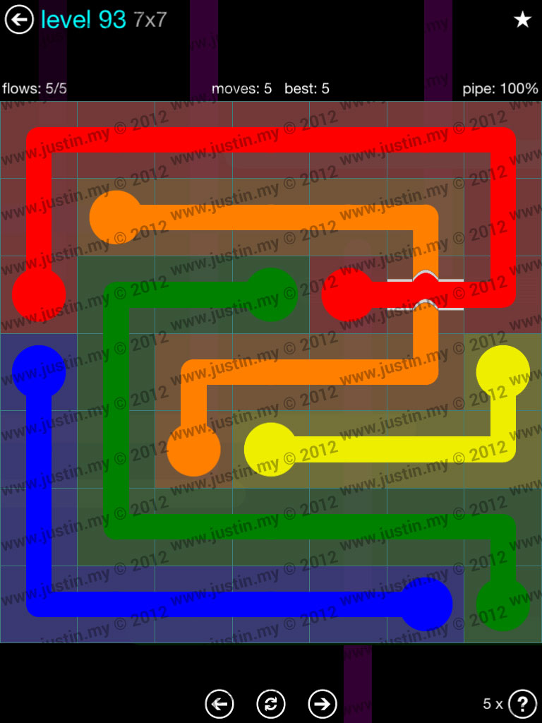 Flow Bridges 7x7 Mania  Level 93