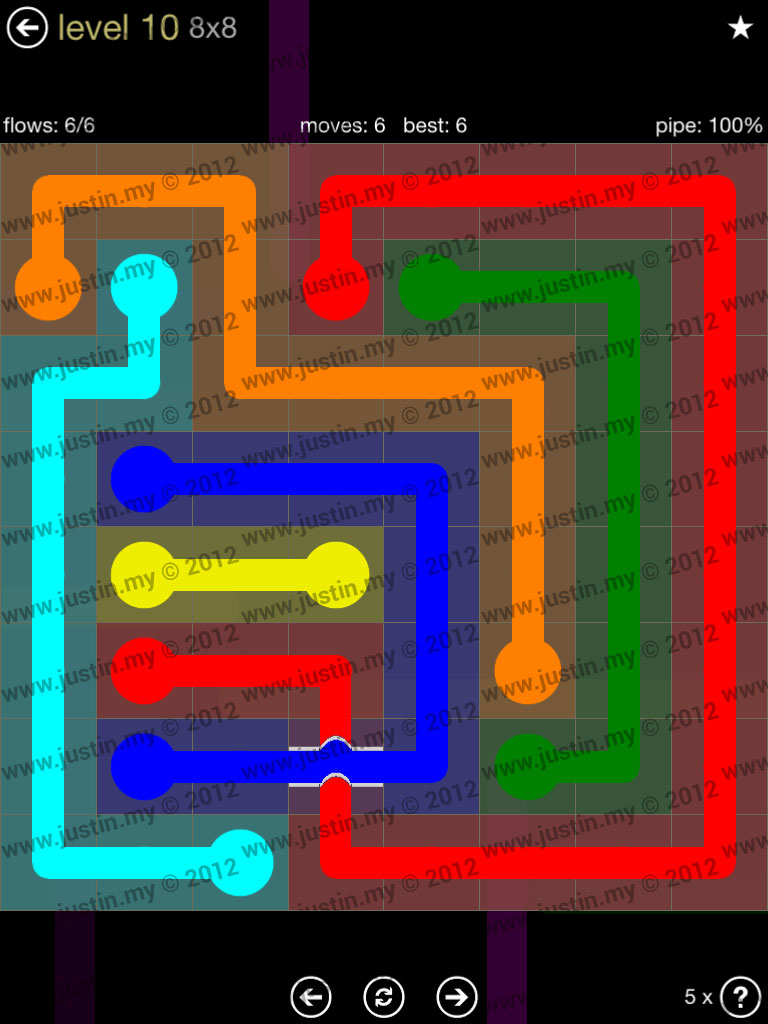 Flow Bridges 8x8 Mania Level 10