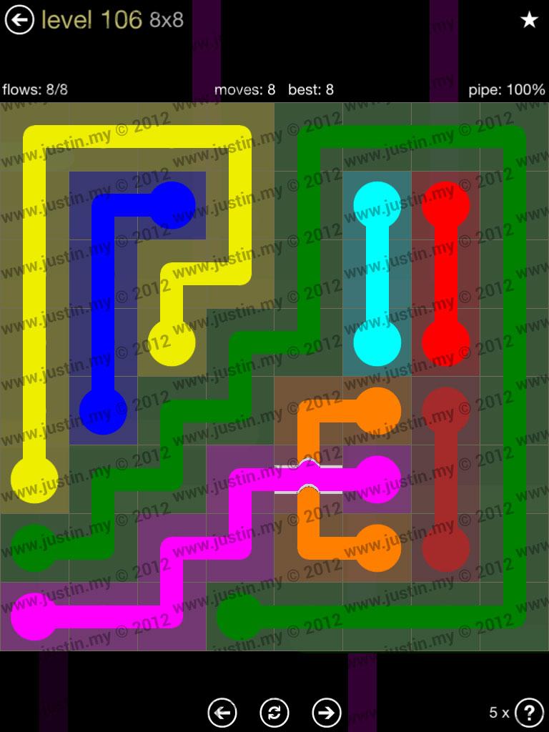 Flow Bridges 8x8 Mania Level 106