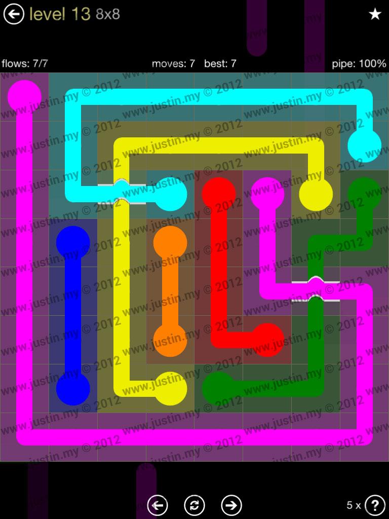 Flow Bridges 8x8 Mania Level 13