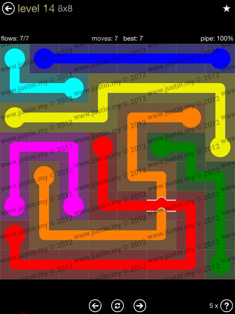 Flow Bridges 8x8 Mania Level 14