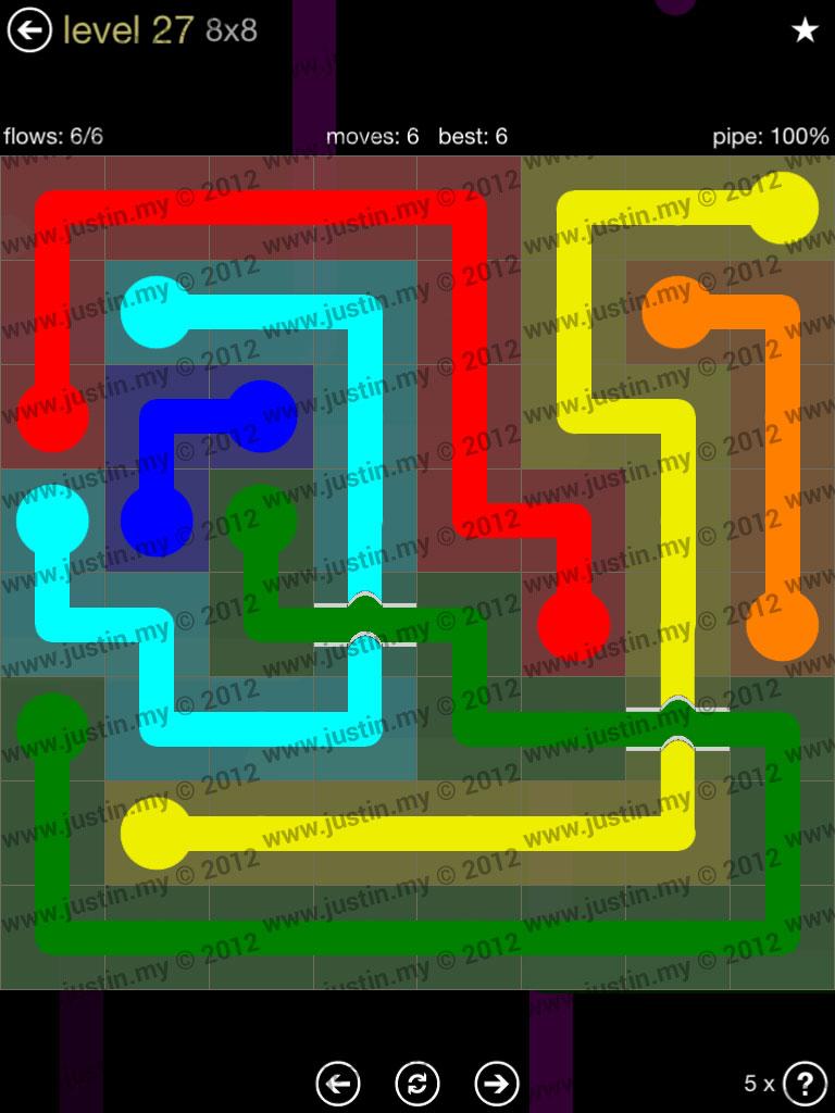 Flow Bridges 8x8 Mania Level 27