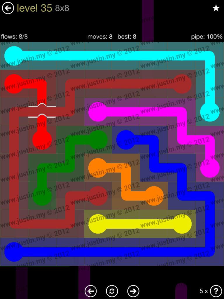 Flow Bridges 8x8 Mania Level 35