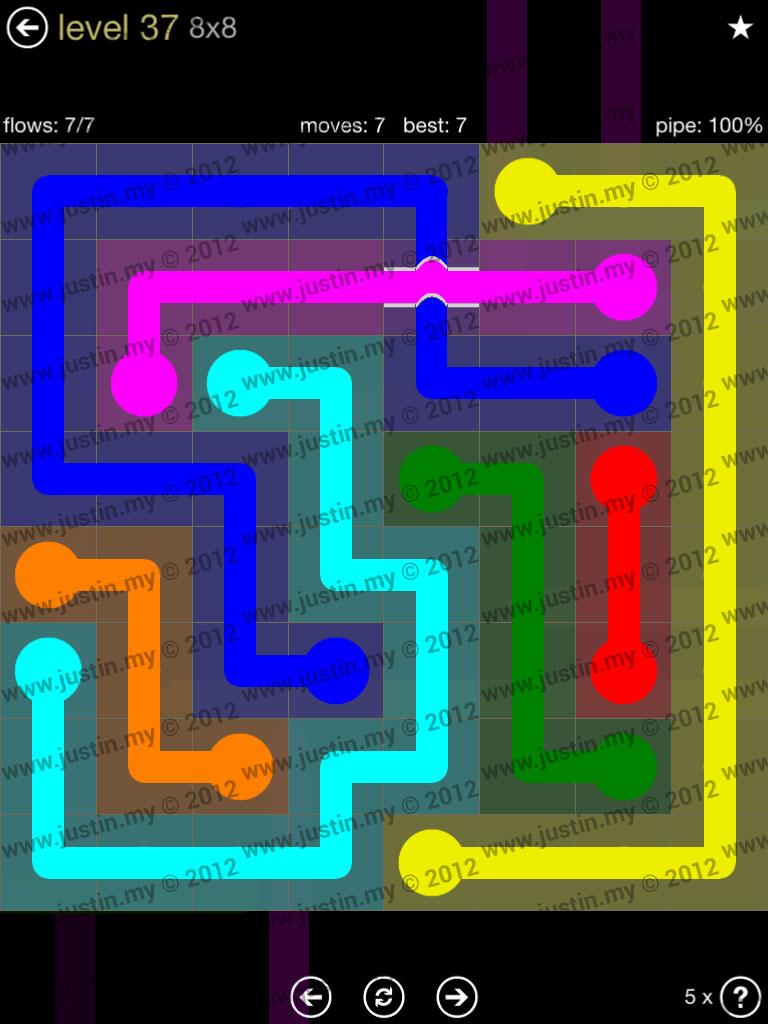 Flow Bridges 8x8 Mania Level 37