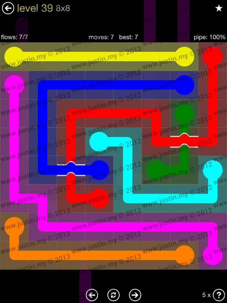 Flow Bridges 8x8 Mania Level 39