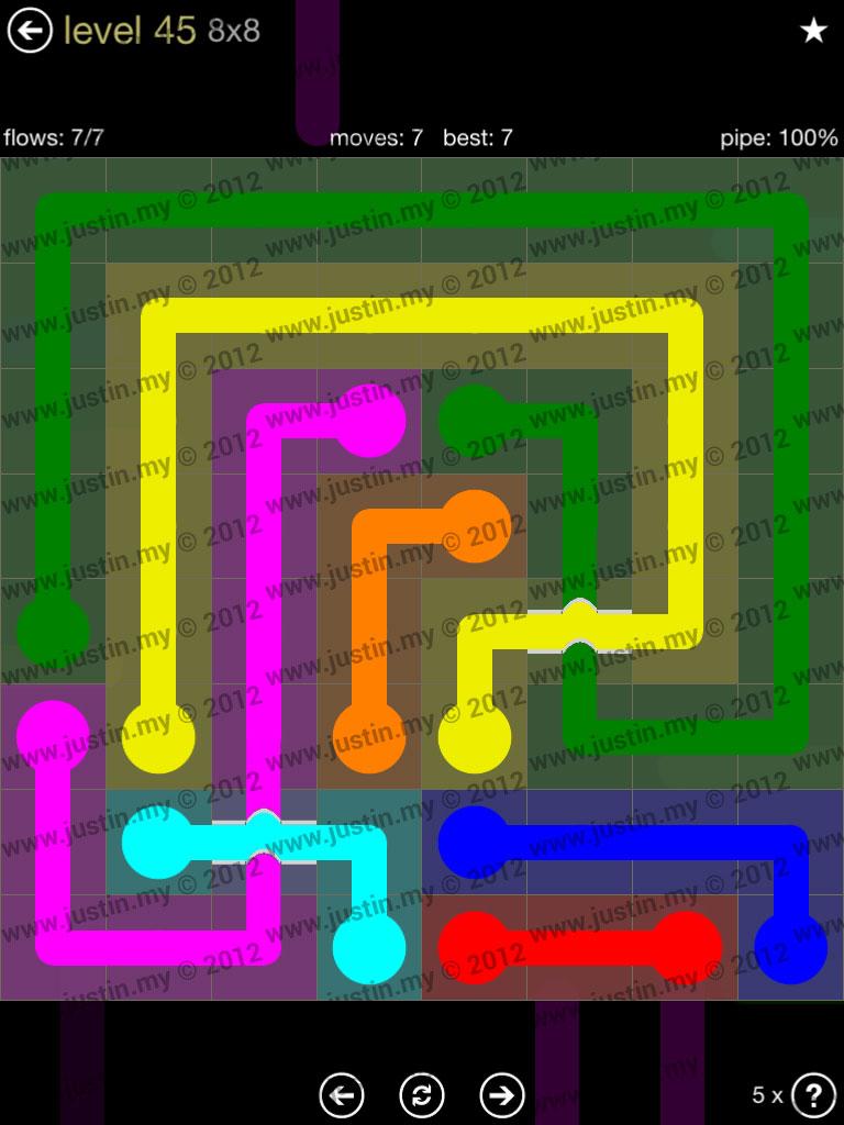 Flow Bridges 8x8 Mania Level 45