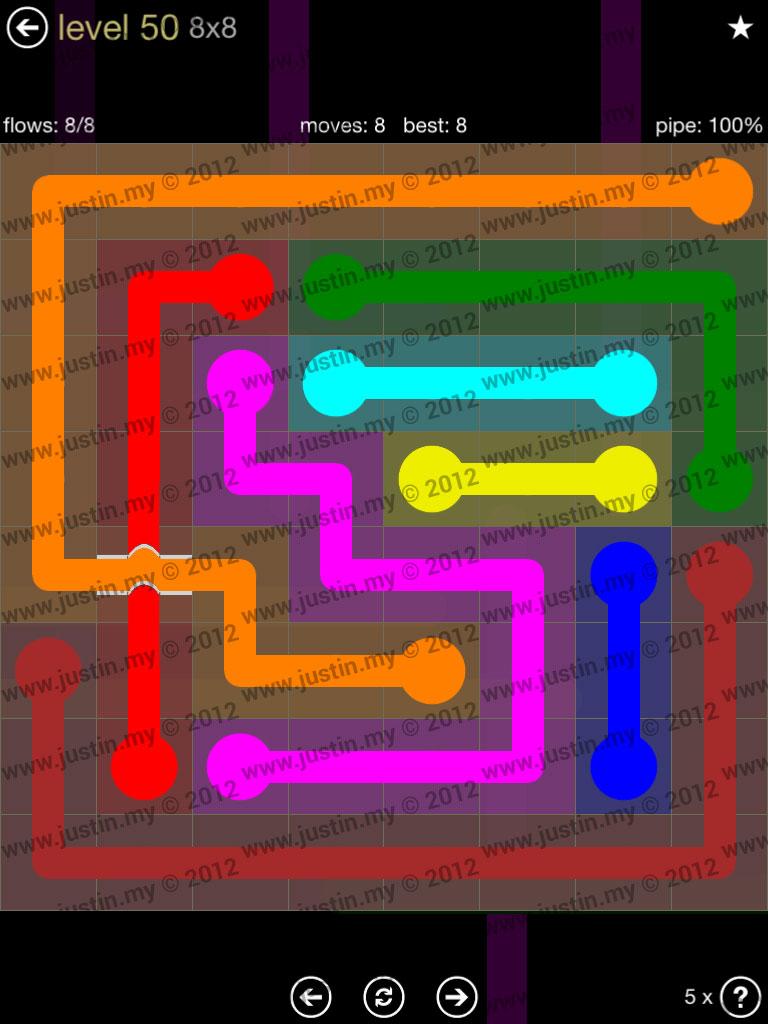 Flow Bridges 8x8 Mania Level 50