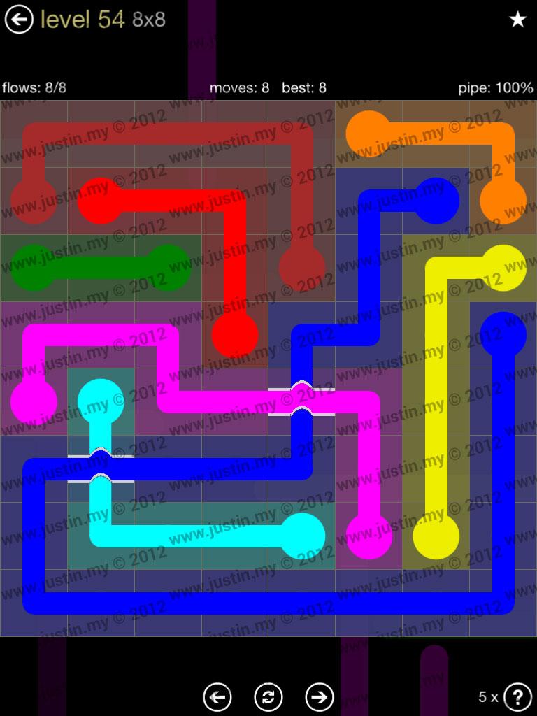 Flow Bridges 8x8 Mania Level 54