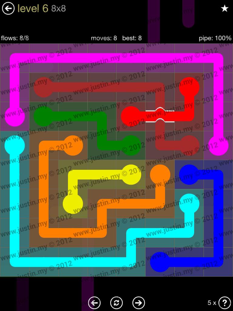 Flow Bridges 8x8 Mania Level 6