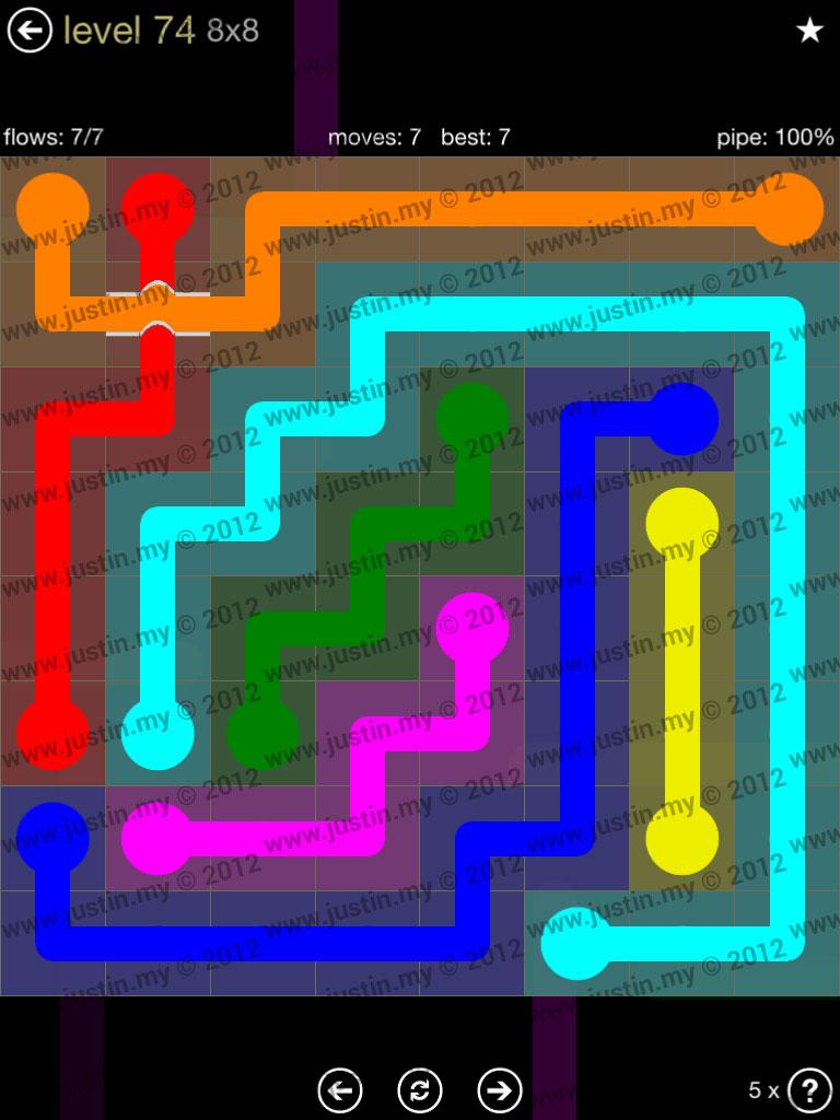 Flow Bridges 8x8 Mania Level 74