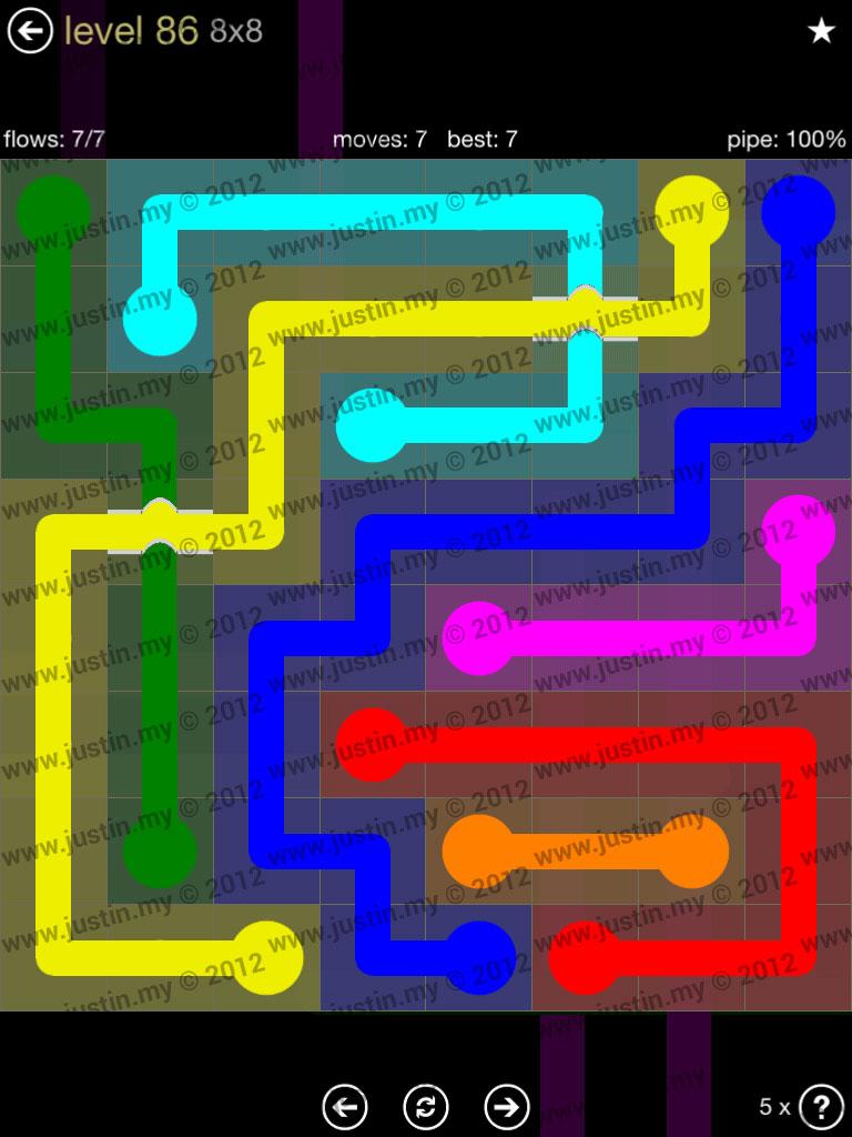 Flow Bridges 8x8 Mania Level 86