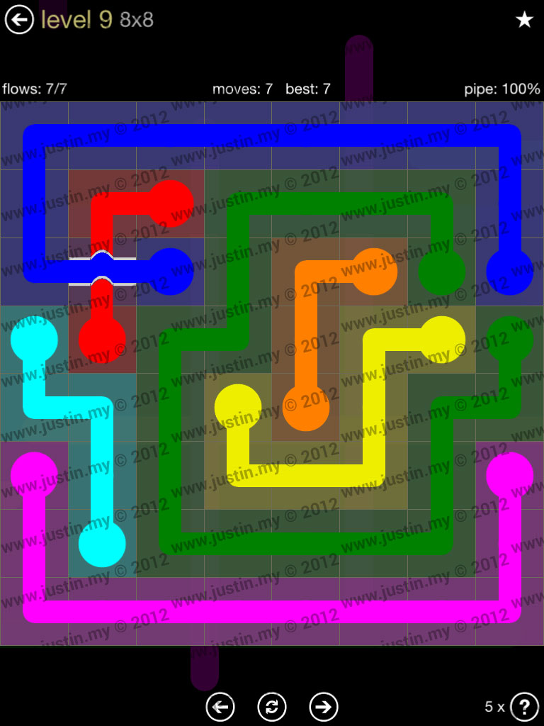 Flow Bridges 8x8 Mania Level 9