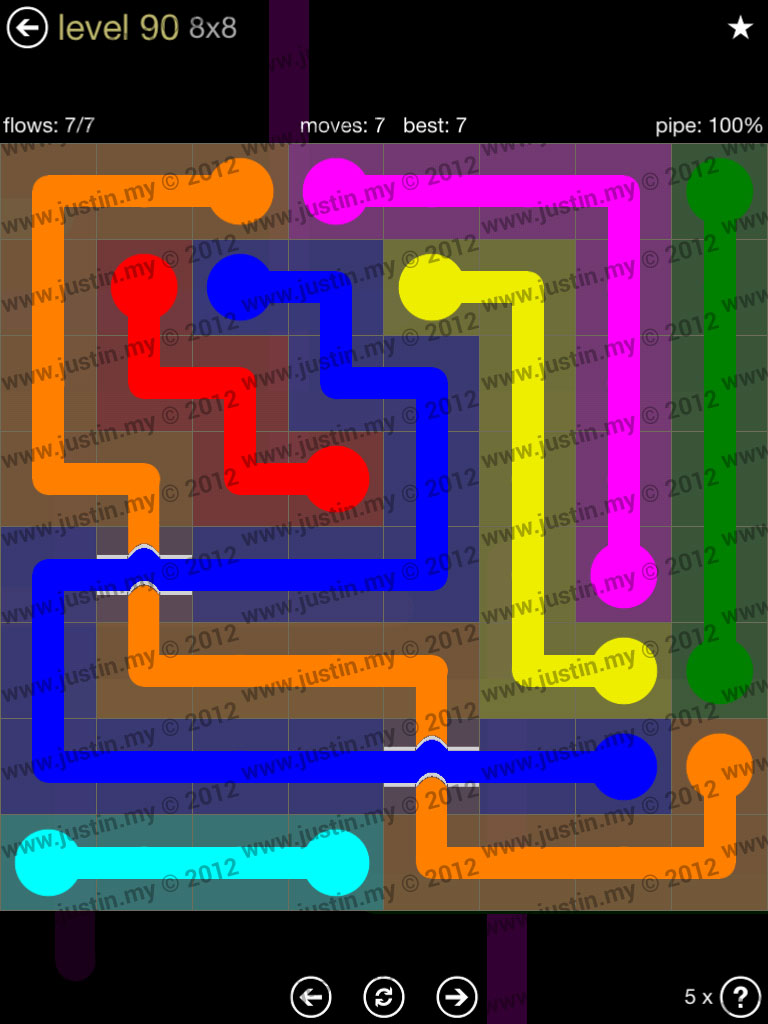 Flow Bridges 8x8 Mania Level 90
