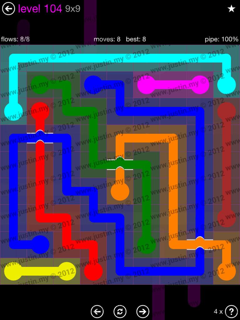 Flow Bridges 9x9 Mania Level 104