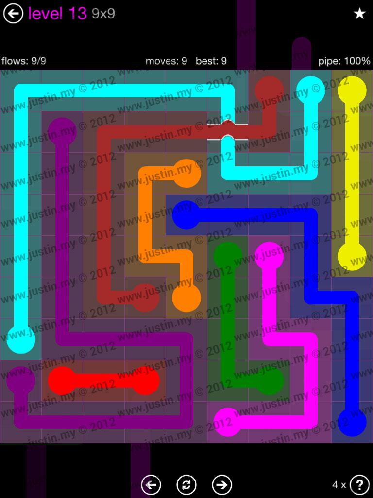 Flow Bridges 9x9 Mania Level 13