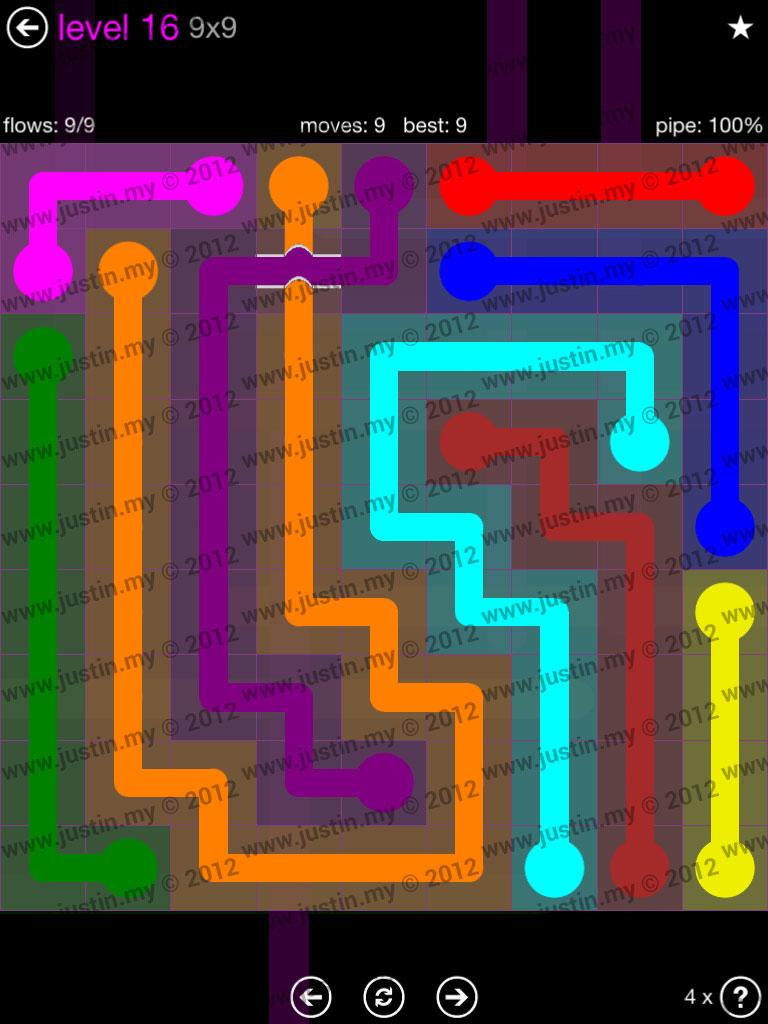 Flow Bridges 9x9 Mania Level 16