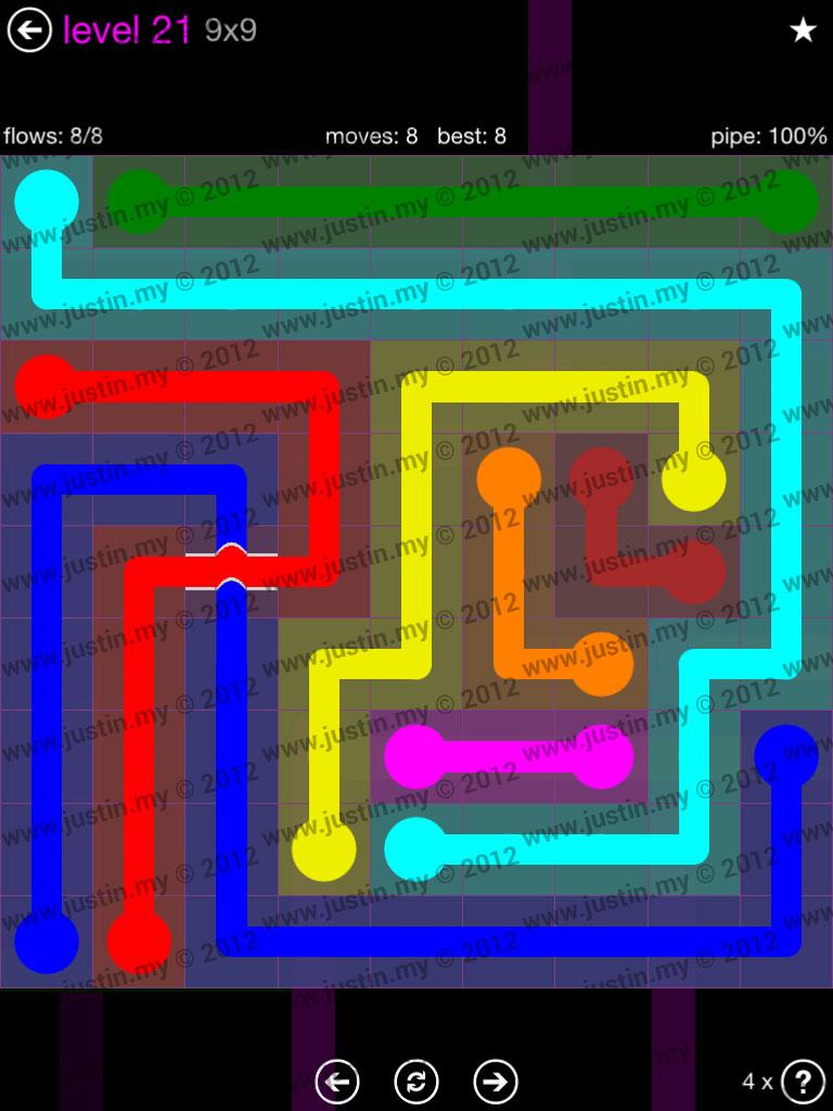 Flow Bridges 9x9 Mania Level 21