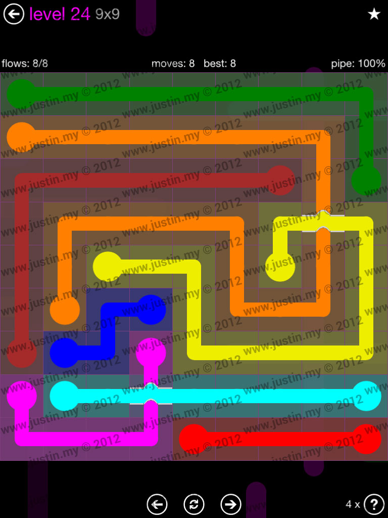 Flow Bridges 9x9 Mania Level 24