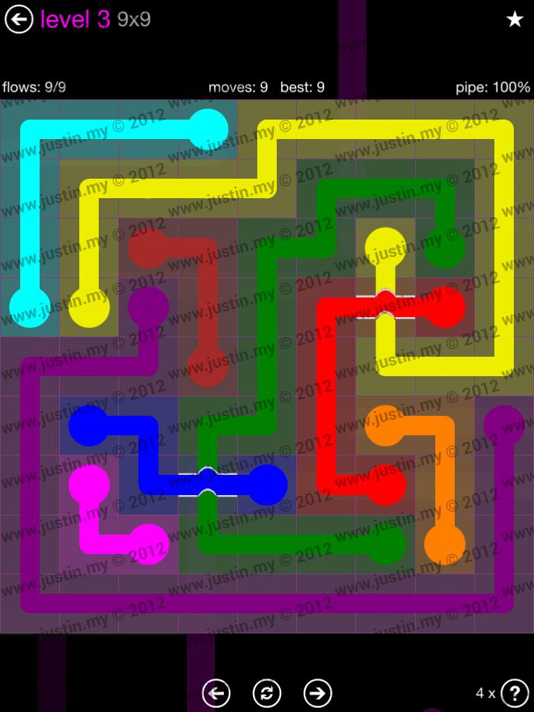 Flow Bridges 9x9 Mania Level 3