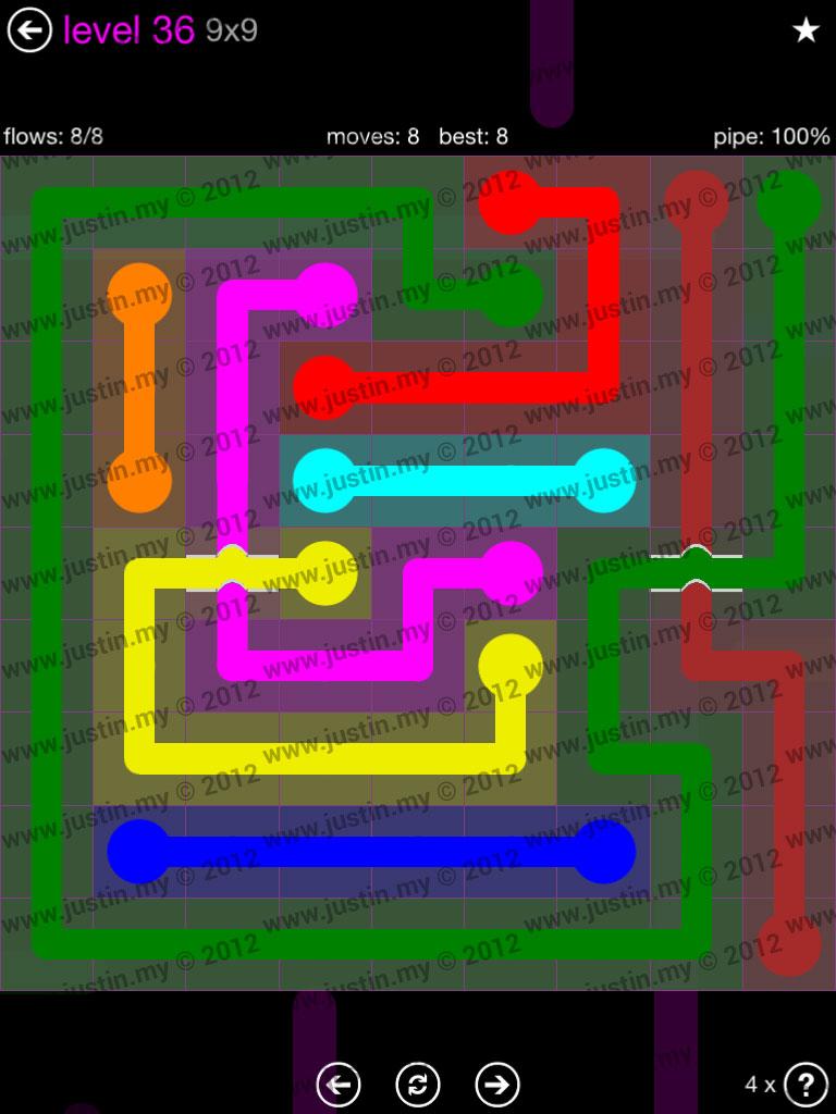 Flow Bridges 9x9 Mania Level 36