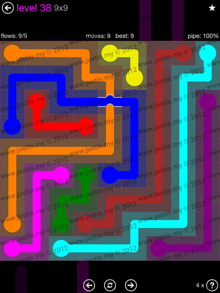 Flow Bridges 9x9 Mania Level 38