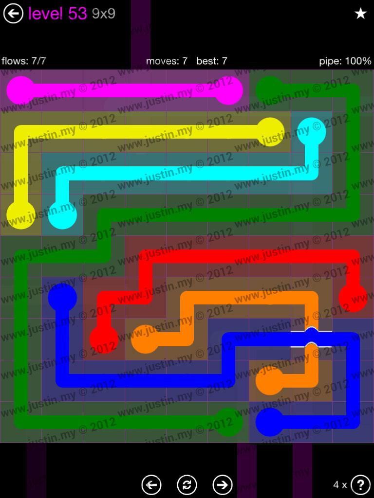 Flow Bridges 9x9 Mania Level 53