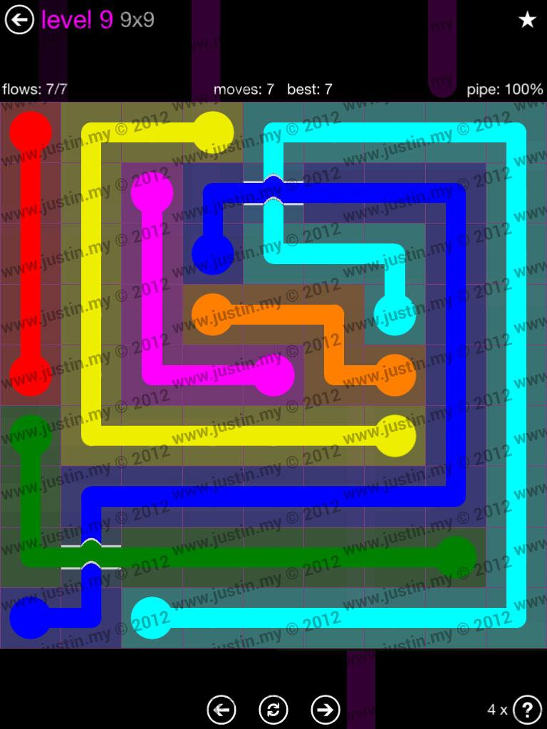 Flow Bridges 9x9 Mania Level 9
