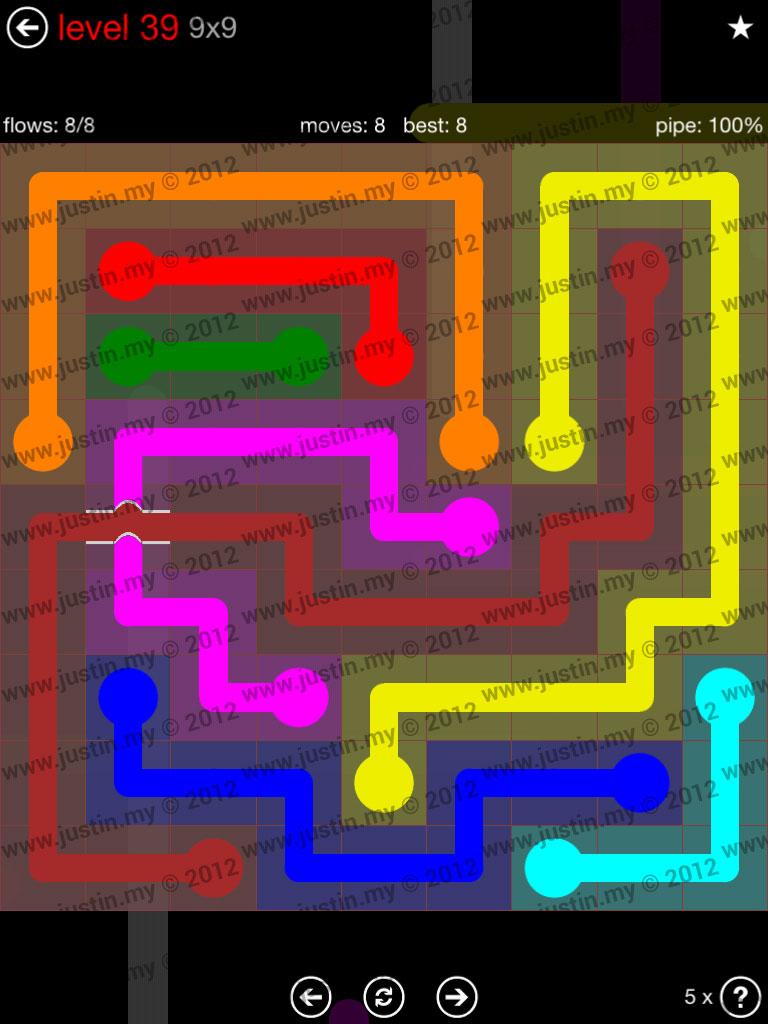 Flow Bridges 9x9 Level 39