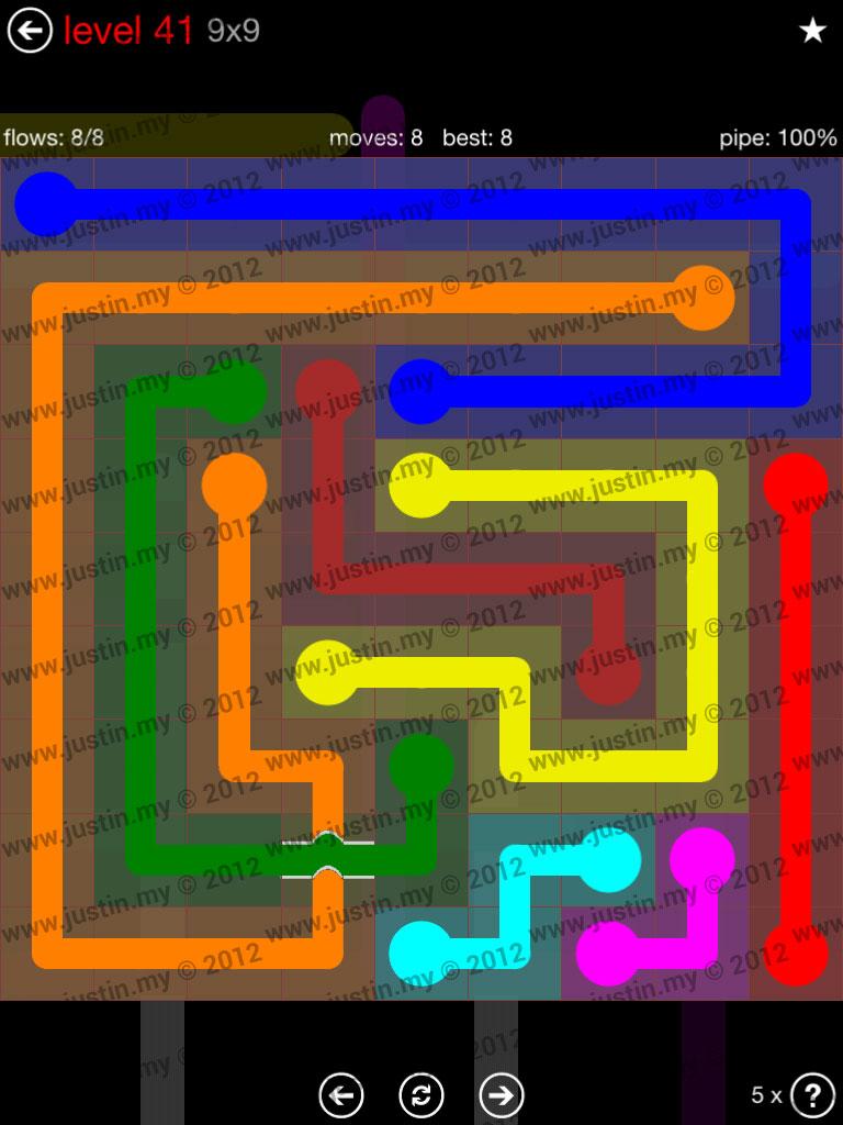Flow Bridges 9x9 Level 41