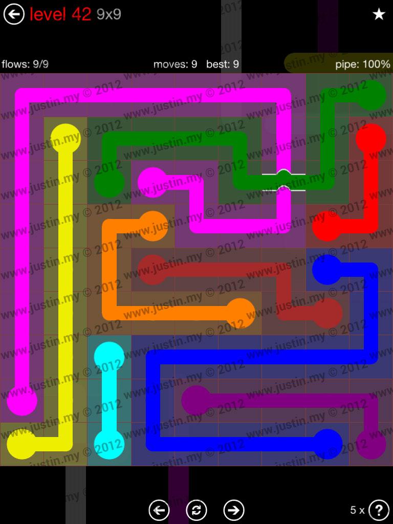 Flow Bridges 9x9 Level 42