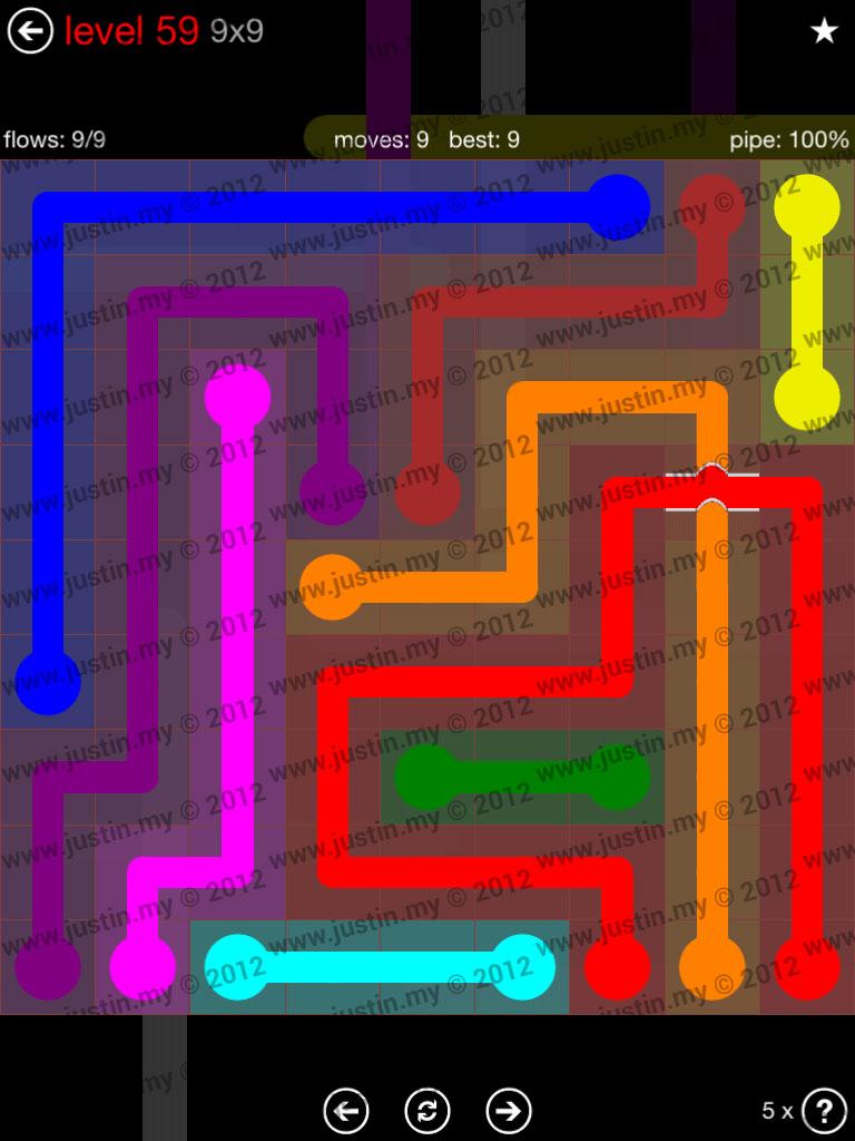 Flow Bridges 9x9 Level 59