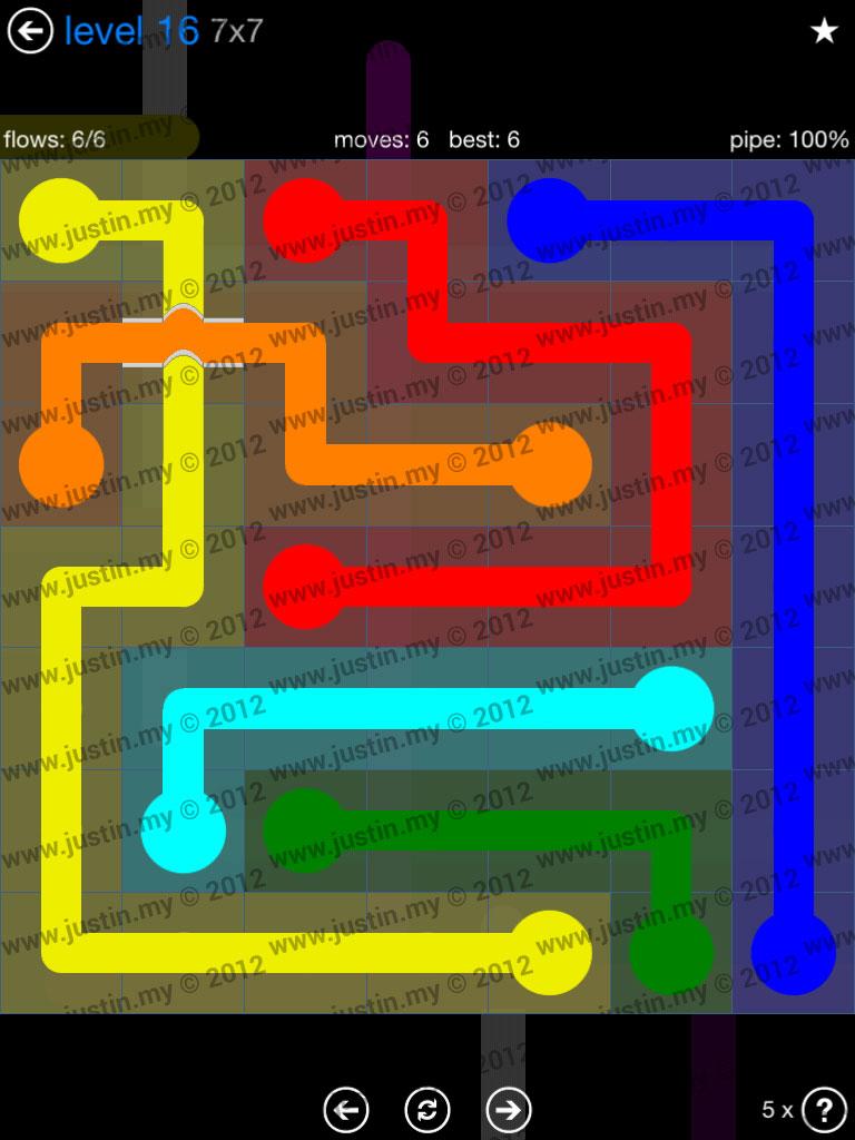 Flow Bridges 7x7 Level 16