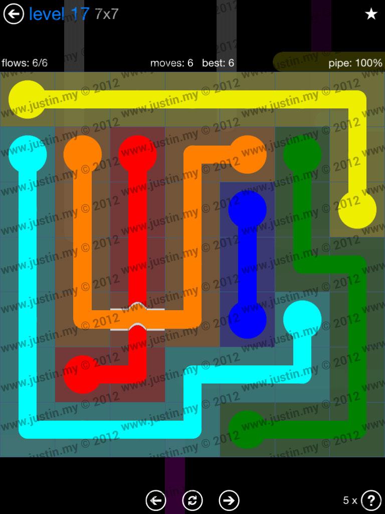 Flow Bridges 7x7 Level 17