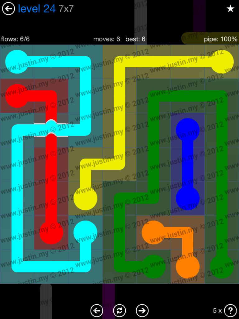 Flow Bridges 7x7 Level 24