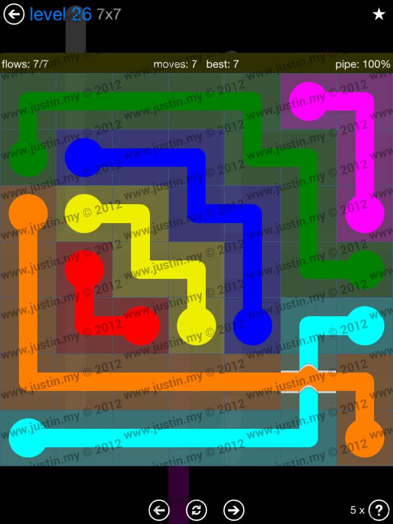 Flow Bridges 7x7 Level 26